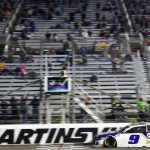 MARTINSVILLE, VIRGINIA - NOVEMBER 01: Chase Elliott, driver of the #9 NAPA Auto Parts Chevrolet, crosses the finish line to win the NASCAR Cup Series Xfinity 500 at Martinsville Speedway on November 01, 2020 in Martinsville, Virginia. (Photo by Jared C. Tilton/Getty Images) | Getty Images