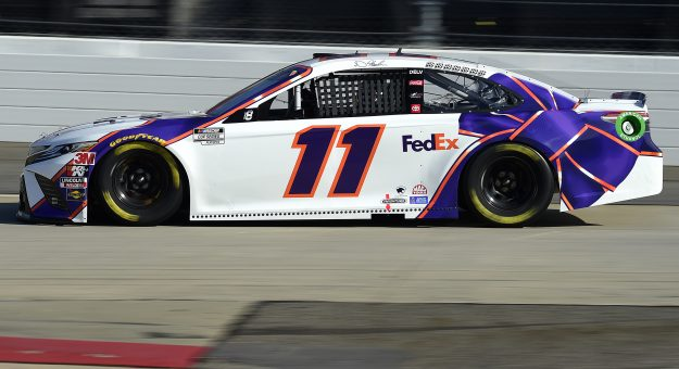 MARTINSVILLE, VIRGINIA - NOVEMBER 01: Denny Hamlin, driver of the #11 FedEx Ground Toyota, dduring the NASCAR Cup Series Xfinity 500 at Martinsville Speedway on November 01, 2020 in Martinsville, Virginia. (Photo by Jared C. Tilton/Getty Images)   Getty Images