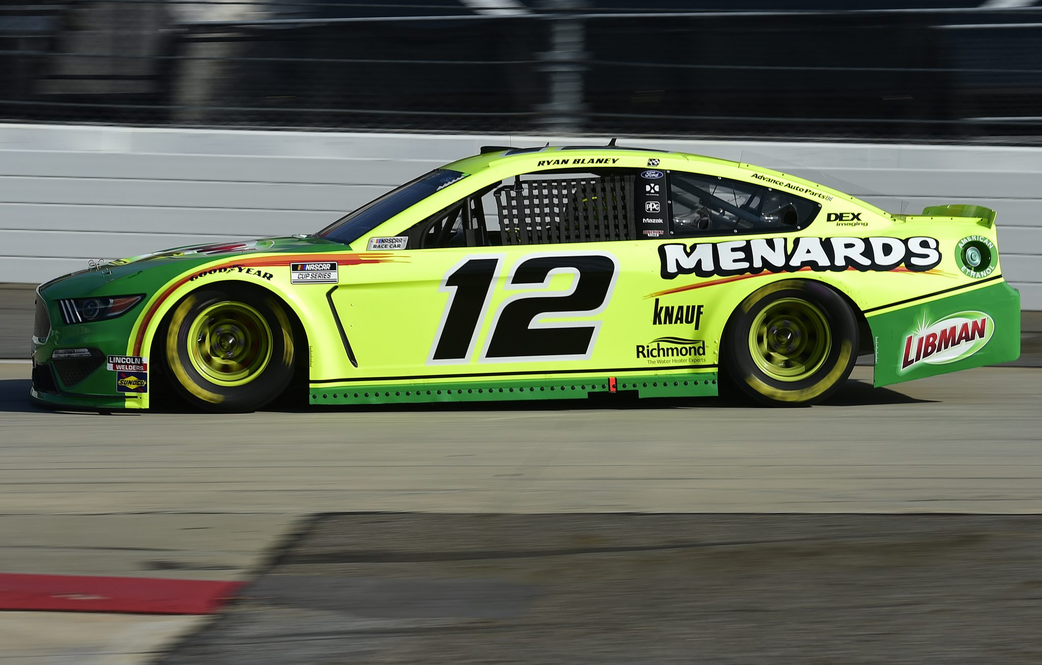 MARTINSVILLE, VIRGINIA - NOVEMBER 01: Ryan Blaney, driver of the #12 Menards/Libman Ford, drives during the NASCAR Cup Series Xfinity 500 at Martinsville Speedway on November 01, 2020 in Martinsville, Virginia. (Photo by Jared C. Tilton/Getty Images) | Getty Images