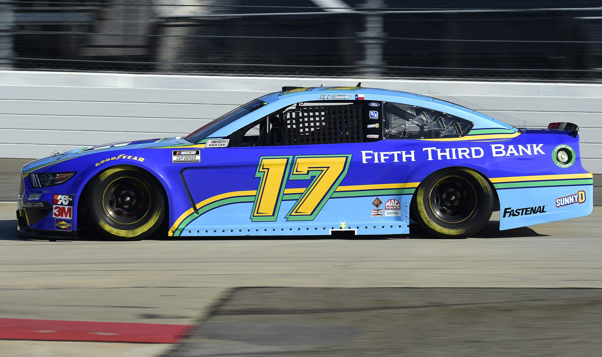 MARTINSVILLE, VIRGINIA - NOVEMBER 01: Chris Buescher, driver of the #17 Fifth Third Bank Ford, drives during the NASCAR Cup Series Xfinity 500 at Martinsville Speedway on November 01, 2020 in Martinsville, Virginia. (Photo by Jared C. Tilton/Getty Images) | Getty Images