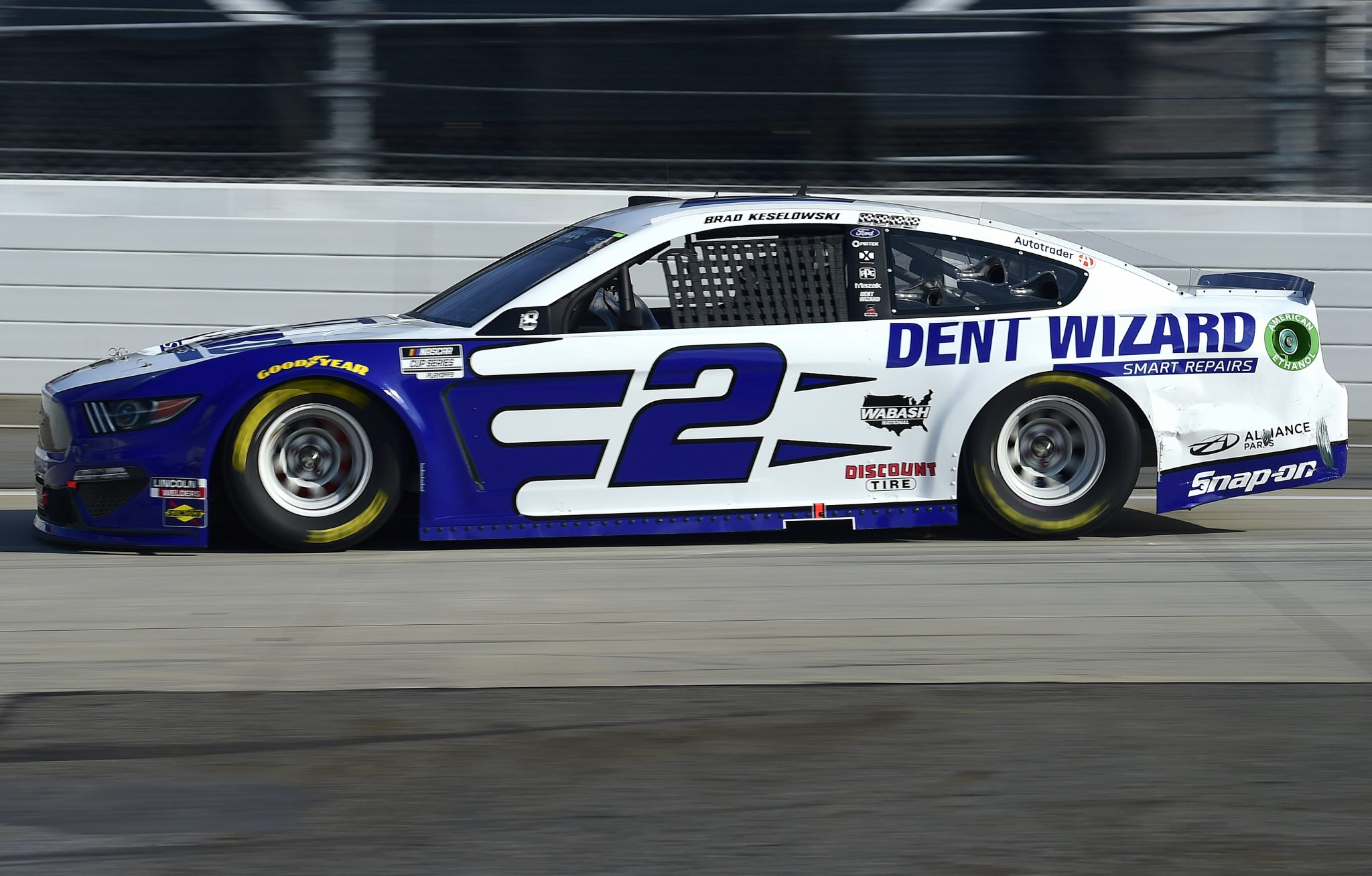 MARTINSVILLE, VIRGINIA - NOVEMBER 01: Brad Keselowski, driver of the #2 Dent Wizard Ford, drives during the NASCAR Cup Series Xfinity 500 at Martinsville Speedway on November 01, 2020 in Martinsville, Virginia. (Photo by Jared C. Tilton/Getty Images) | Getty Images