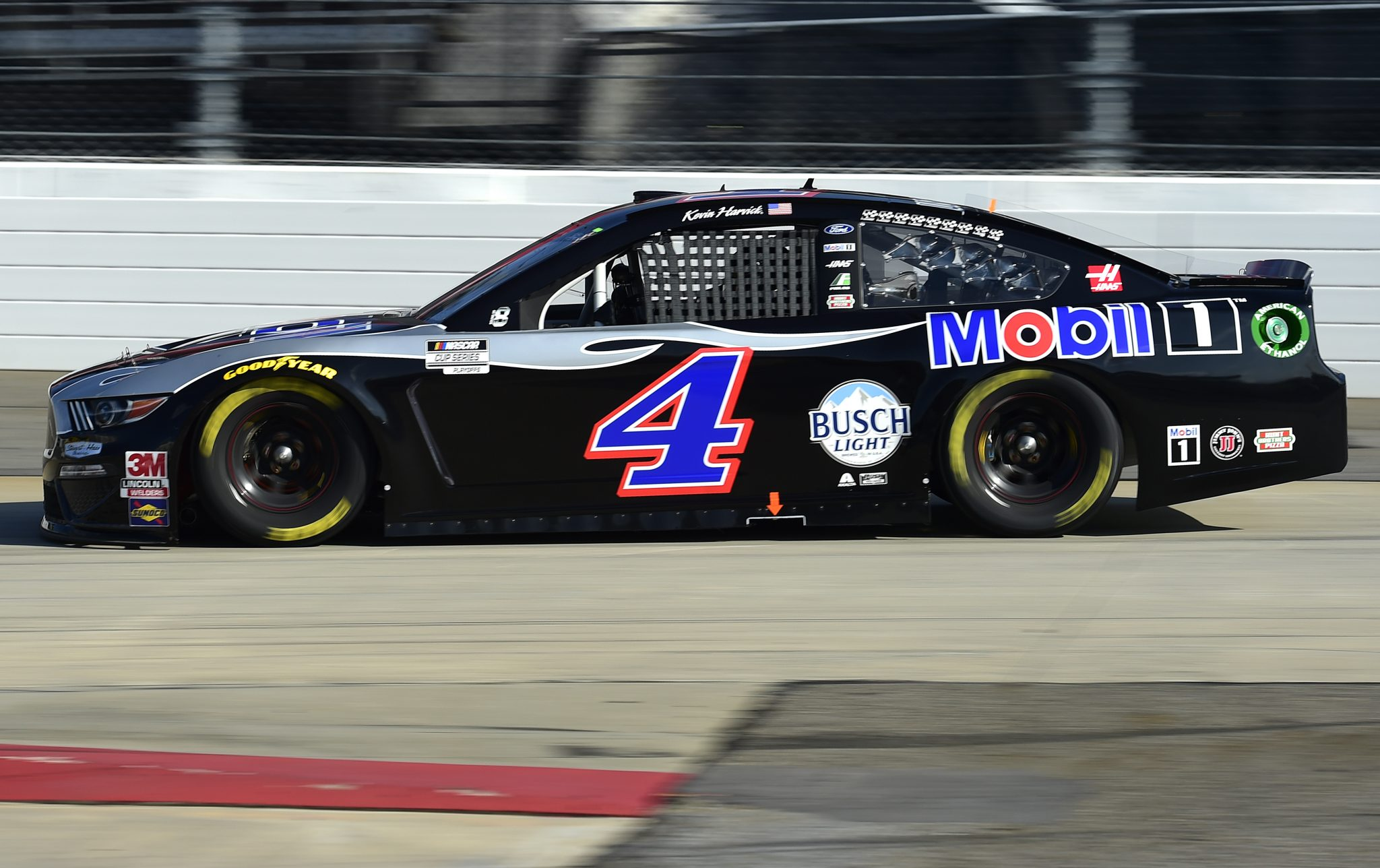 MARTINSVILLE, VIRGINIA - NOVEMBER 01: Kevin Harvick, driver of the #4 Mobil 1 Ford, drives during the NASCAR Cup Series Xfinity 500 at Martinsville Speedway on November 01, 2020 in Martinsville, Virginia. (Photo by Jared C. Tilton/Getty Images) | Getty Images
