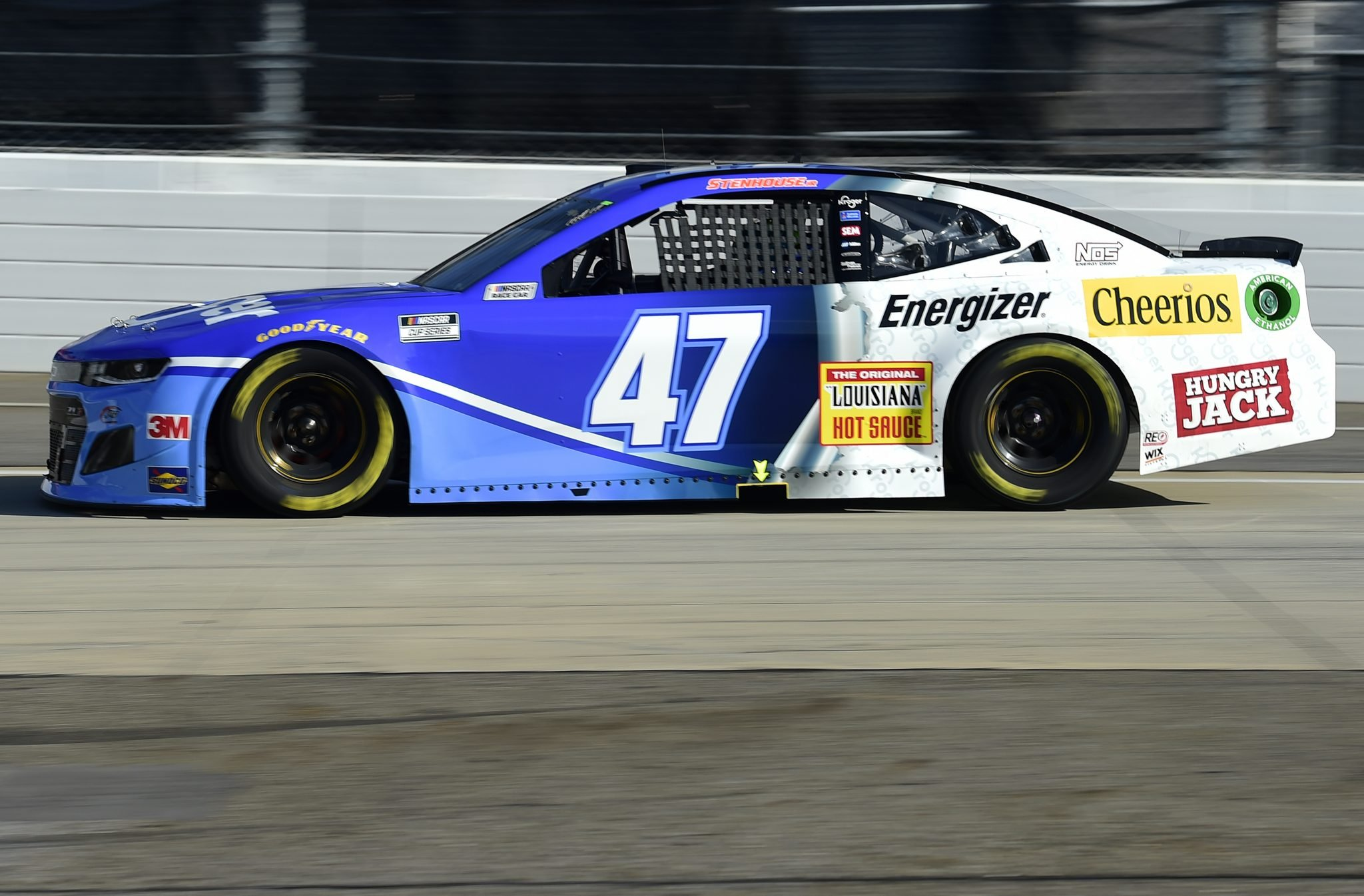 MARTINSVILLE, VIRGINIA - NOVEMBER 01: Ricky Stenhouse Jr., driver of the #47 Kroger Chevrolet, drives during the NASCAR Cup Series Xfinity 500 at Martinsville Speedway on November 01, 2020 in Martinsville, Virginia. (Photo by Jared C. Tilton/Getty Images) | Getty Images
