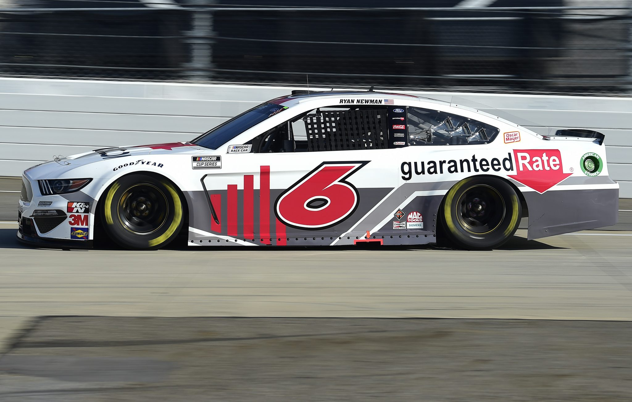 MARTINSVILLE, VIRGINIA - NOVEMBER 01: Ryan Newman, driver of the #6 Guaranteed Rate Ford, drives during the NASCAR Cup Series Xfinity 500 at Martinsville Speedway on November 01, 2020 in Martinsville, Virginia. (Photo by Jared C. Tilton/Getty Images) | Getty Images
