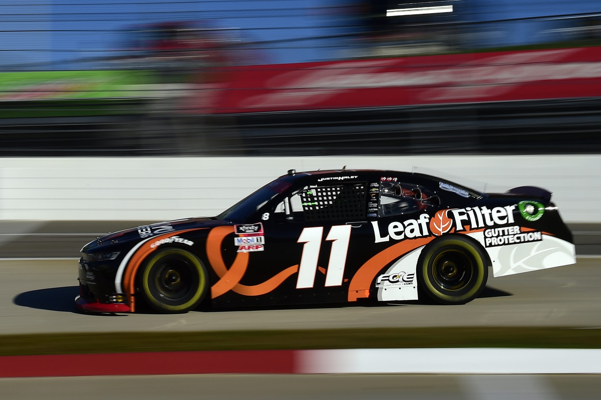 MARTINSVILLE, VIRGINIA - OCTOBER 31: Justin Haley, driver of the #11 LeafFilter Gutter Protection Chevrolet, drives during the NASCAR Xfinity Series Draft Top 250 at Martinsville Speedway on October 31, 2020 in Martinsville, Virginia. (Photo by Jared C. Tilton/Getty Images) | Getty Images