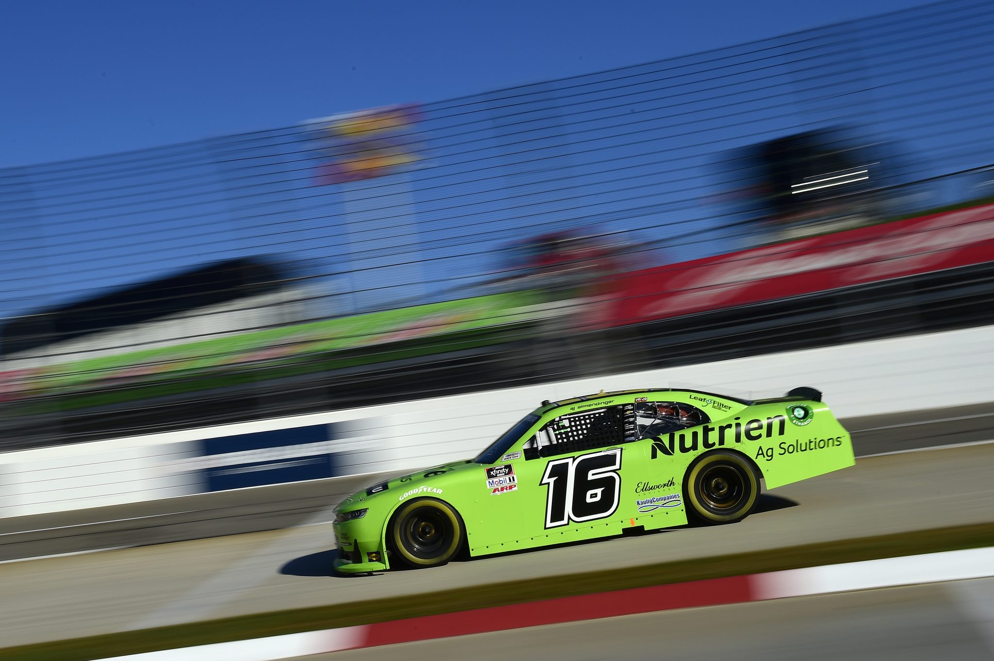 MARTINSVILLE, VIRGINIA - OCTOBER 31: AJ Allmendinger, driver of the #16 Nutrien Ag Solutions Chevrolet, drives during the NASCAR Xfinity Series Draft Top 250 at Martinsville Speedway on October 31, 2020 in Martinsville, Virginia. (Photo by Jared C. Tilton/Getty Images) | Getty Images