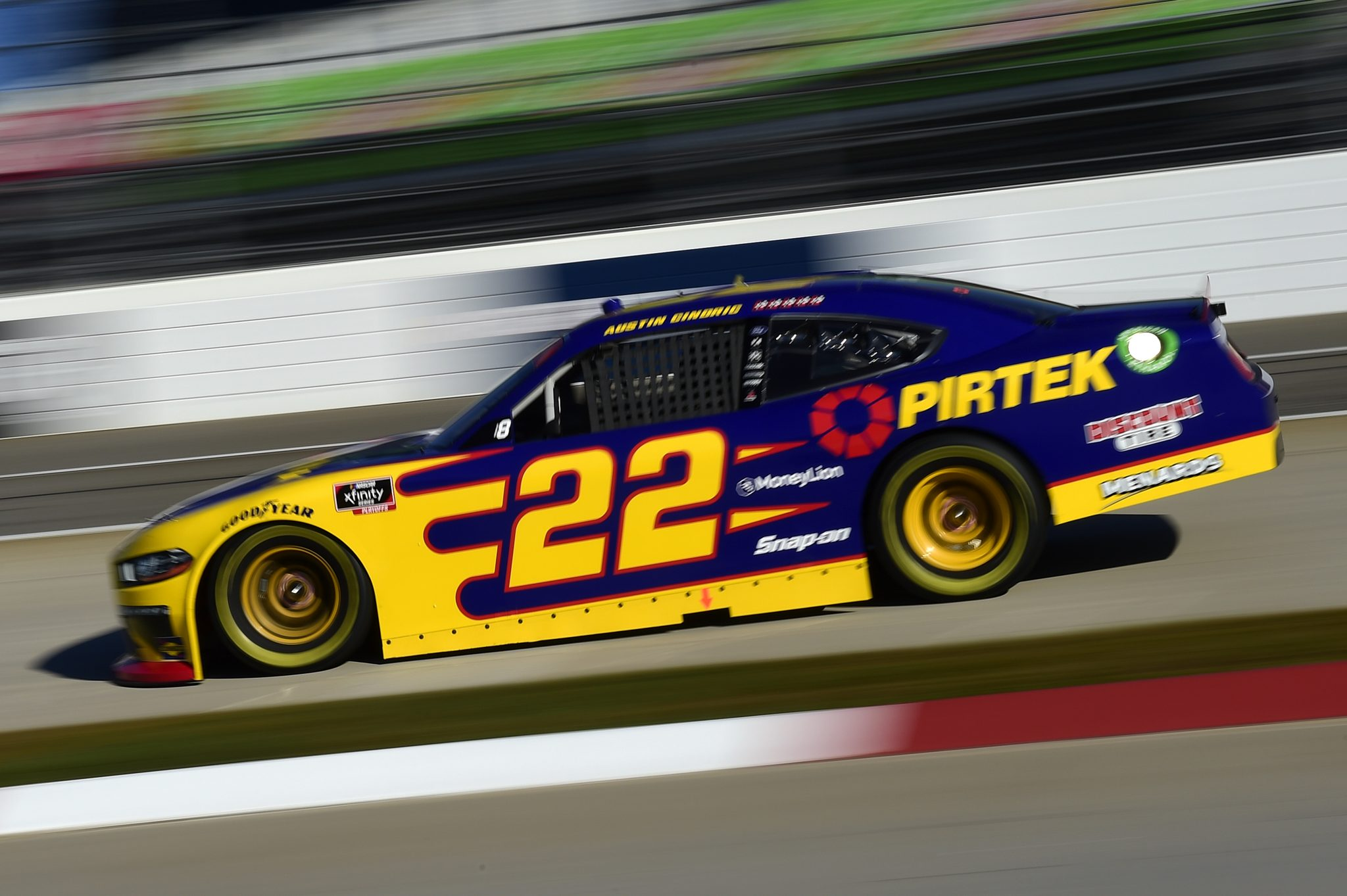MARTINSVILLE, VIRGINIA - OCTOBER 31: Austin Cindric, driver of the #22 Pirtek Ford, drives during the NASCAR Xfinity Series Draft Top 250 at Martinsville Speedway on October 31, 2020 in Martinsville, Virginia. (Photo by Jared C. Tilton/Getty Images) | Getty Images