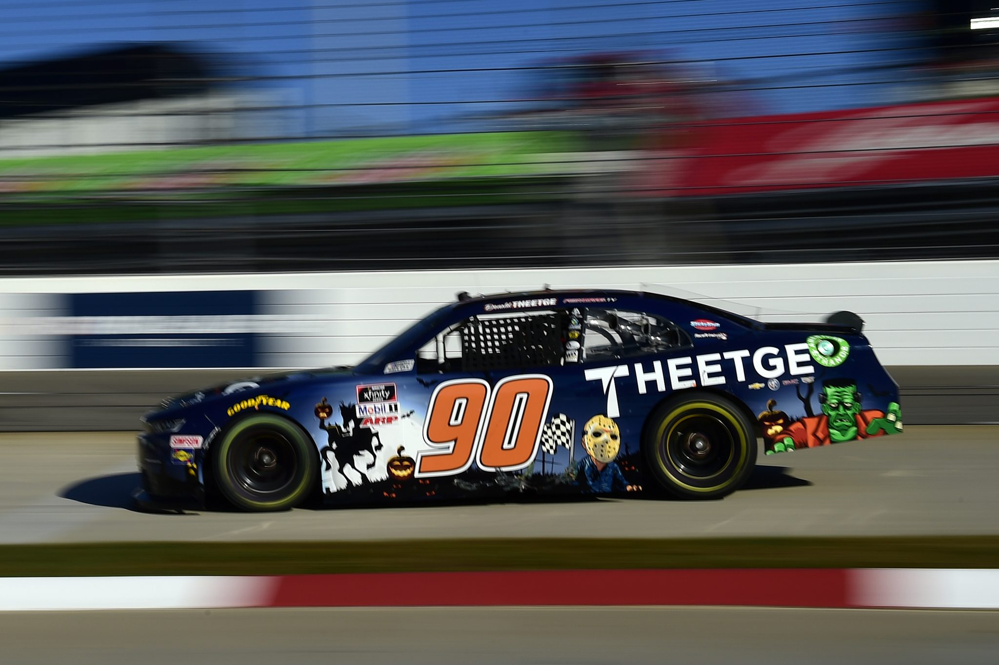 MARTINSVILLE, VIRGINIA - OCTOBER 31: Donald Theetge, driver of the #90 Theetge Chevrolet Chevrolet, drives during the NASCAR Xfinity Series Draft Top 250 at Martinsville Speedway on October 31, 2020 in Martinsville, Virginia. (Photo by Jared C. Tilton/Getty Images) | Getty Images