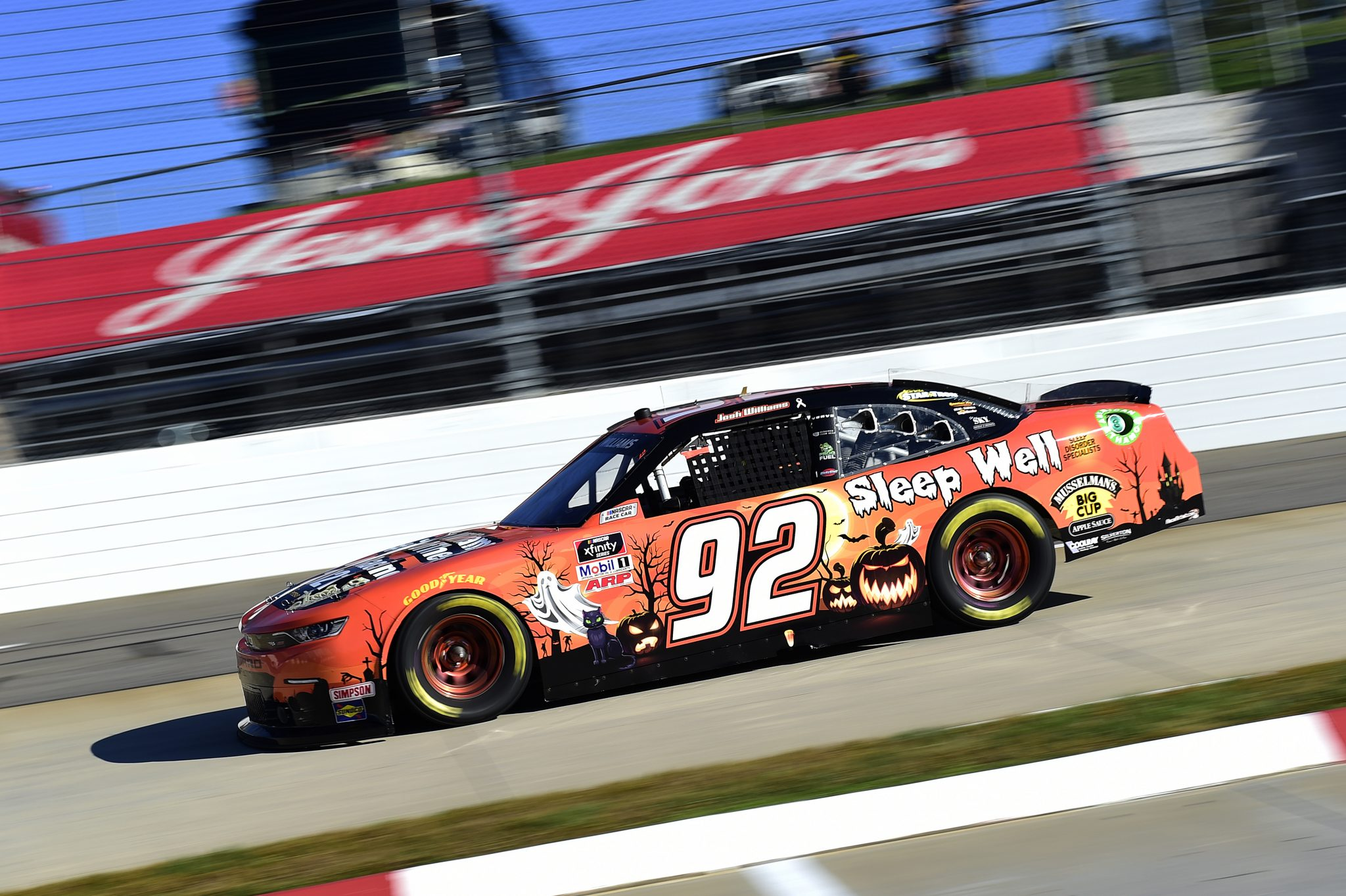 MARTINSVILLE, VIRGINIA - OCTOBER 31: Josh Williams, driver of the #92 Sleep Well/Alloy Chevrolet, drives during the NASCAR Xfinity Series Draft Top 250 at Martinsville Speedway on October 31, 2020 in Martinsville, Virginia. (Photo by Jared C. Tilton/Getty Images) | Getty Images
