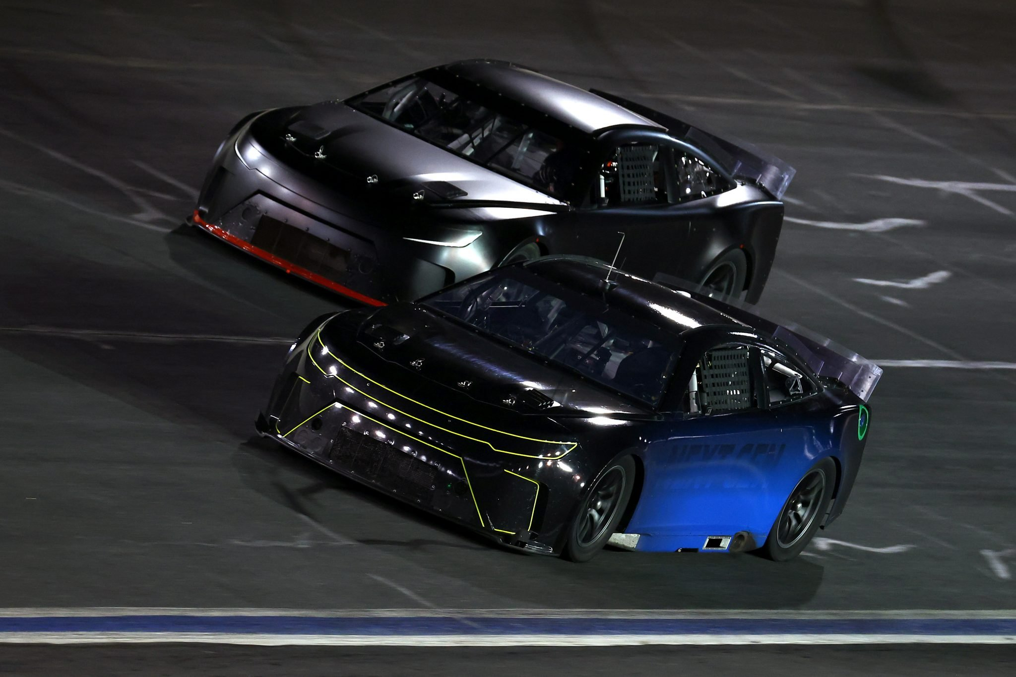 CONCORD, NORTH CAROLINA - NOVEMBER 18: Kurt Busch and Martin Truex Jr. drive the NASCAR Next Gen car during the NASCAR Cup Series test at Charlotte Motor Speedway on November 18, 2020 in Concord, North Carolina. (Photo by Jared C. Tilton/Getty Images) | Getty Images