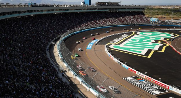 AVONDALE, ARIZONA - MARCH 08: Martin Truex Jr., driver of the #19 Bass Pro Shops Toyota, leads drivers during the NASCAR Cup Series FanShield 500 at Phoenix Raceway on March 08, 2020 in Avondale, Arizona. (Photo by Christian Petersen/Getty Images) | Getty Images