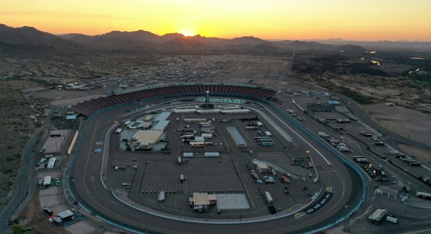 AVONDALE, ARIZONA - NOVEMBER 04:  An aerial view of the track prior to the NASCAR Cup Series Championship at Phoenix Raceway on November 04, 2020 in Avondale, Arizona. (Photo by Chris Graythen/Getty Images) | Getty Images