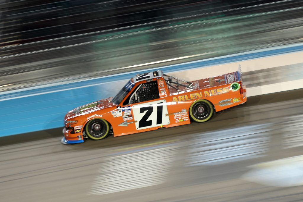 AVONDALE, ARIZONA - NOVEMBER 06: Zane Smith, driver of the #21 MRC Construction Chevrolet, drives during the NASCAR Gander RV & Outdoors Truck Series Lucas Oil 150 at Phoenix Raceway on November 06, 2020 in Avondale, Arizona. (Photo by Chris Graythen/Getty Images) | Getty Images