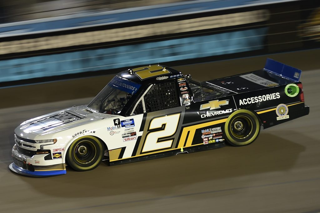 AVONDALE, ARIZONA - NOVEMBER 06: Sheldon Creed, driver of the #2 Chevy Accessories/Trench Shoring Chevrolet, drives during the NASCAR Gander RV & Outdoors Truck Series Lucas Oil 150 at Phoenix Raceway on November 06, 2020 in Avondale, Arizona. (Photo by Jared C. Tilton/Getty Images) | Getty Images