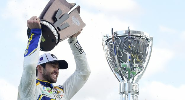AVONDALE, ARIZONA - NOVEMBER 08: Chase Elliott, driver of the #9 NAPA Auto Parts Chevrolet, celebrates in victory lane after winning the NASCAR Cup Series Season Finale 500 and the 2020 NASCAR Cup Series Championship at Phoenix Raceway on November 08, 2020 in Avondale, Arizona. (Photo by Jared C. Tilton/Getty Images) | Getty Images