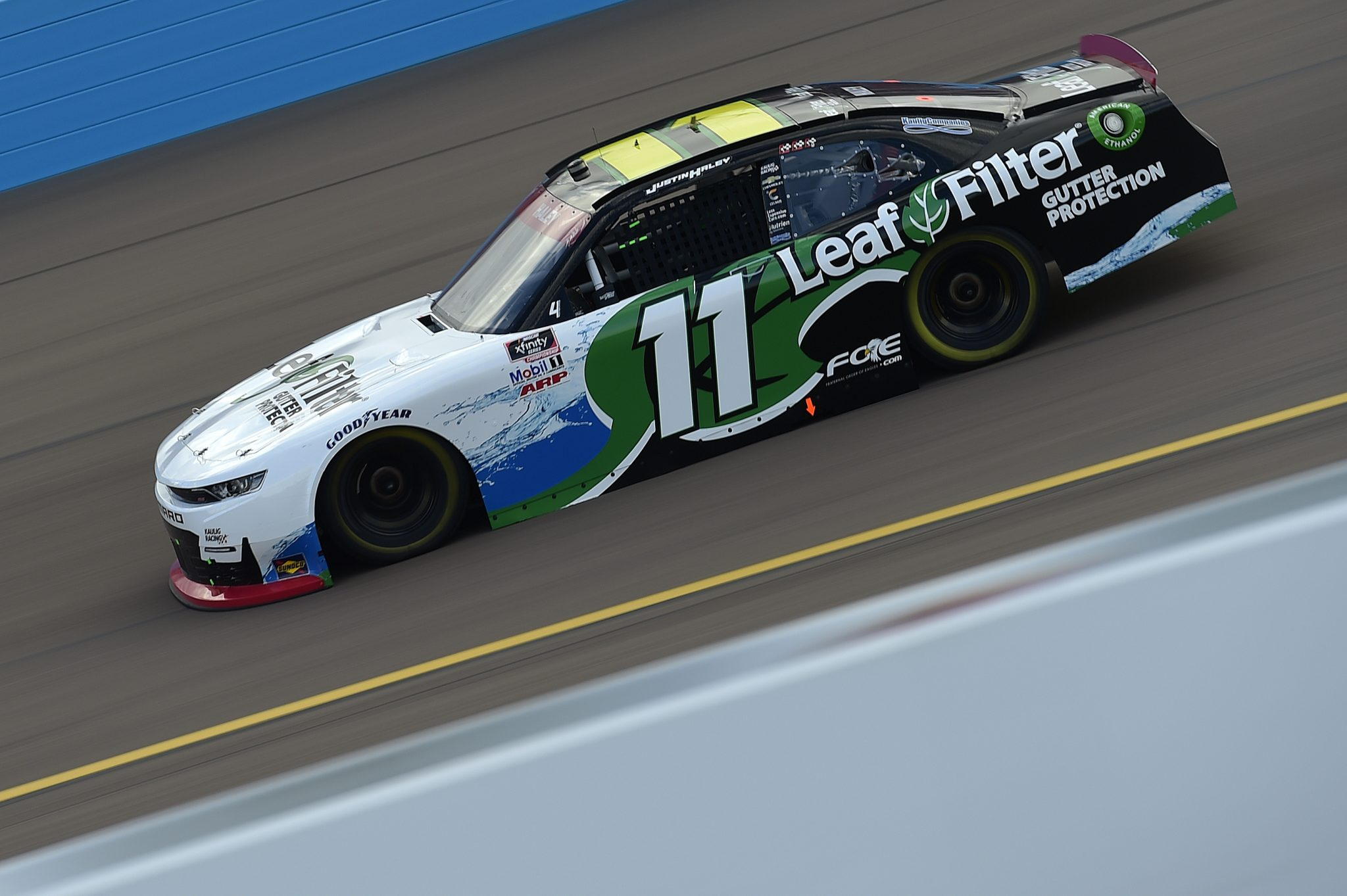 AVONDALE, ARIZONA - NOVEMBER 07: Justin Haley, driver of the #11 LeafFilter Gutter Protection Chevrolet, drives during the NASCAR Xfinity Series Desert Diamond Casino West Valley 200 at Phoenix Raceway on November 07, 2020 in Avondale, Arizona. (Photo by Jared C. Tilton/Getty Images) | Getty Images