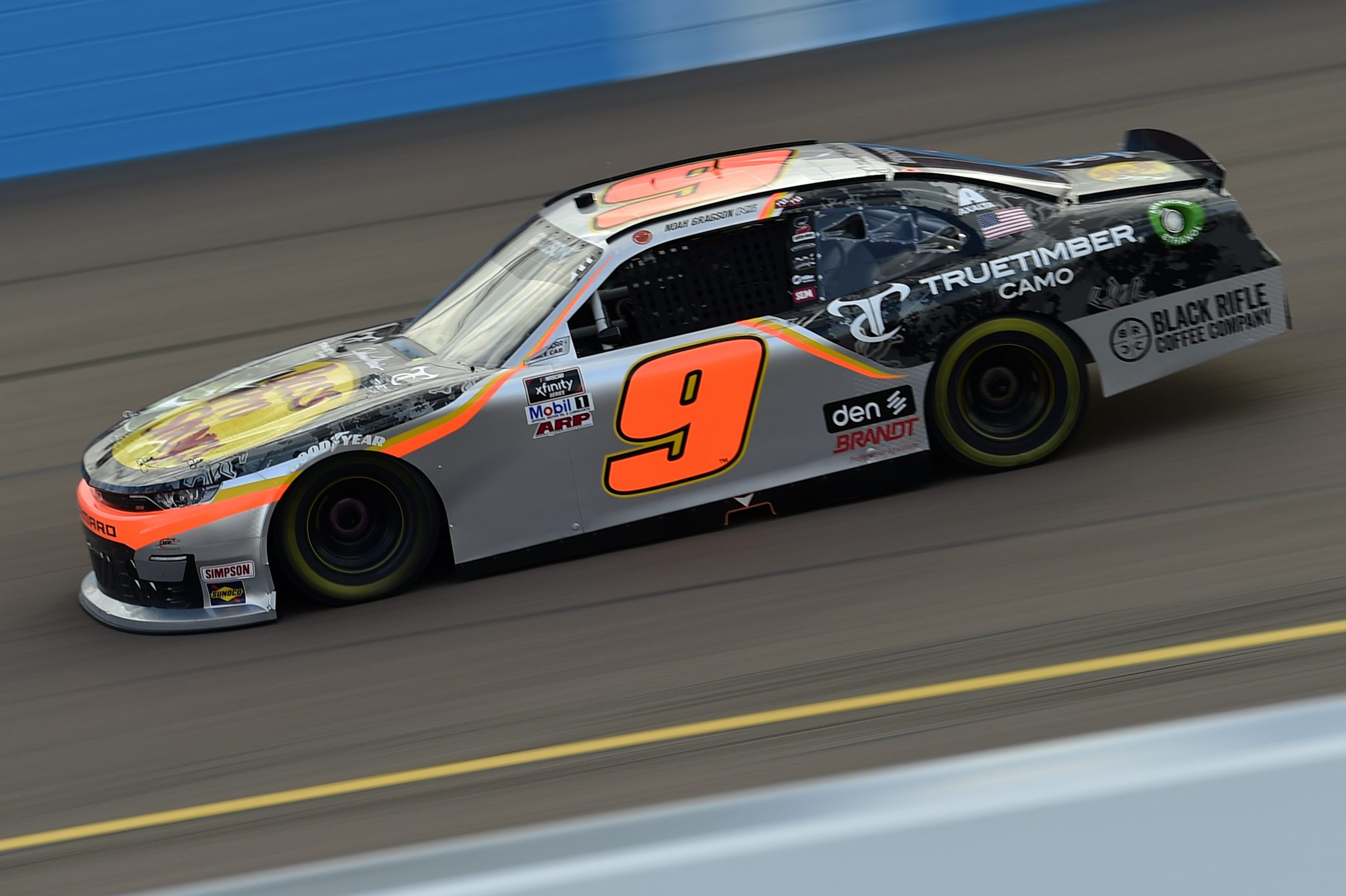 AVONDALE, ARIZONA - NOVEMBER 07: Noah Gragson, driver of the #9 Bass Pro Shops/TrueTimber Camo Chevrolet, drives during the NASCAR Xfinity Series Desert Diamond Casino West Valley 200 at Phoenix Raceway on November 07, 2020 in Avondale, Arizona. (Photo by Jared C. Tilton/Getty Images) | Getty Images