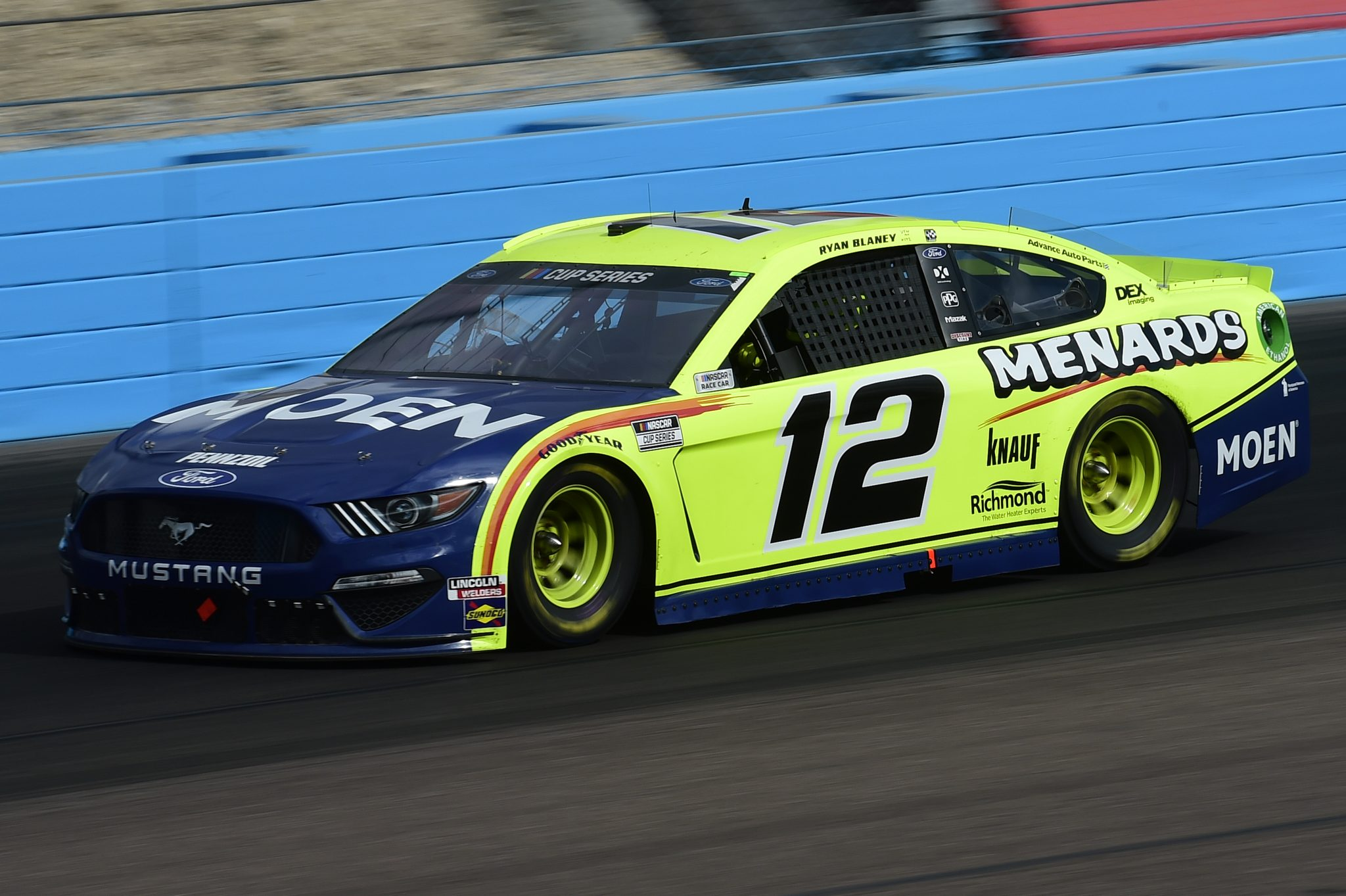 AVONDALE, ARIZONA - NOVEMBER 08: Ryan Blaney, driver of the #12 Menards/MOEN Ford, drives during the NASCAR Cup Series Season Finale 500 at Phoenix Raceway on November 08, 2020 in Avondale, Arizona. (Photo by Jared C. Tilton/Getty Images) | Getty Images