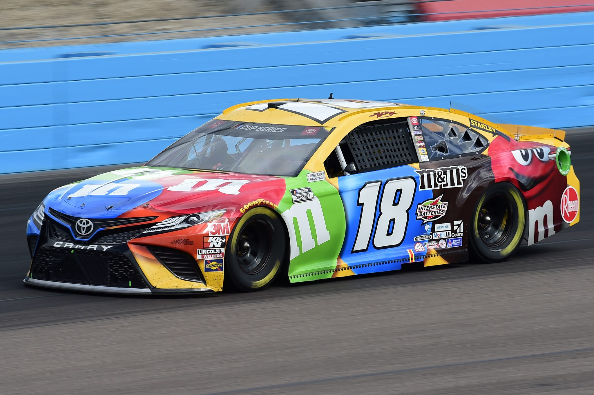 AVONDALE, ARIZONA - NOVEMBER 08: Kyle Busch, driver of the #18 M&M's Toyota, drives during the NASCAR Cup Series Season Finale 500 at Phoenix Raceway on November 08, 2020 in Avondale, Arizona. (Photo by Jared C. Tilton/Getty Images) | Getty Images