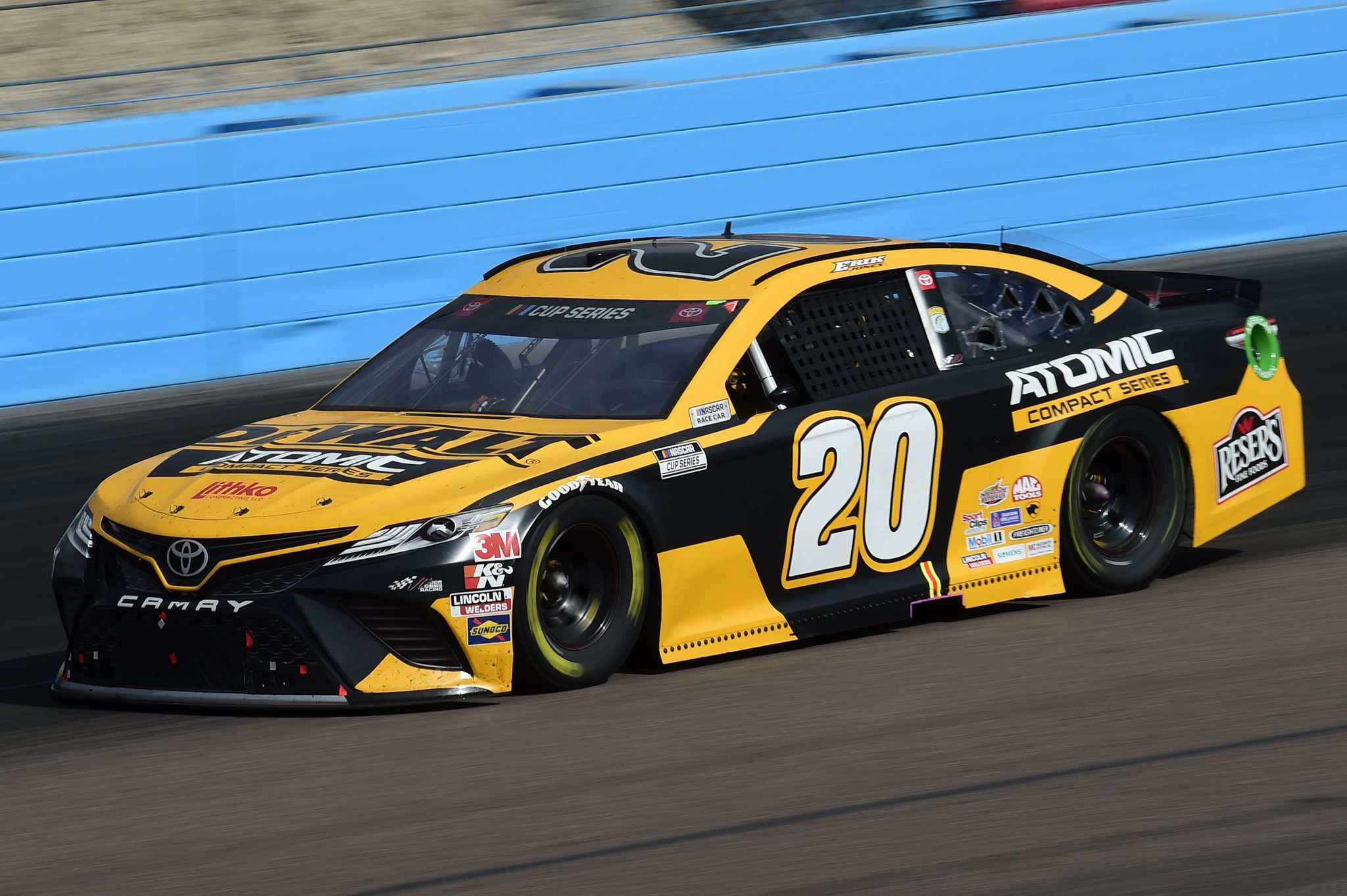 AVONDALE, ARIZONA - NOVEMBER 08: Erik Jones, driver of the #20 DEWALT Atomic Toyota, drives during the NASCAR Cup Series Season Finale 500 at Phoenix Raceway on November 08, 2020 in Avondale, Arizona. (Photo by Jared C. Tilton/Getty Images) | Getty Images