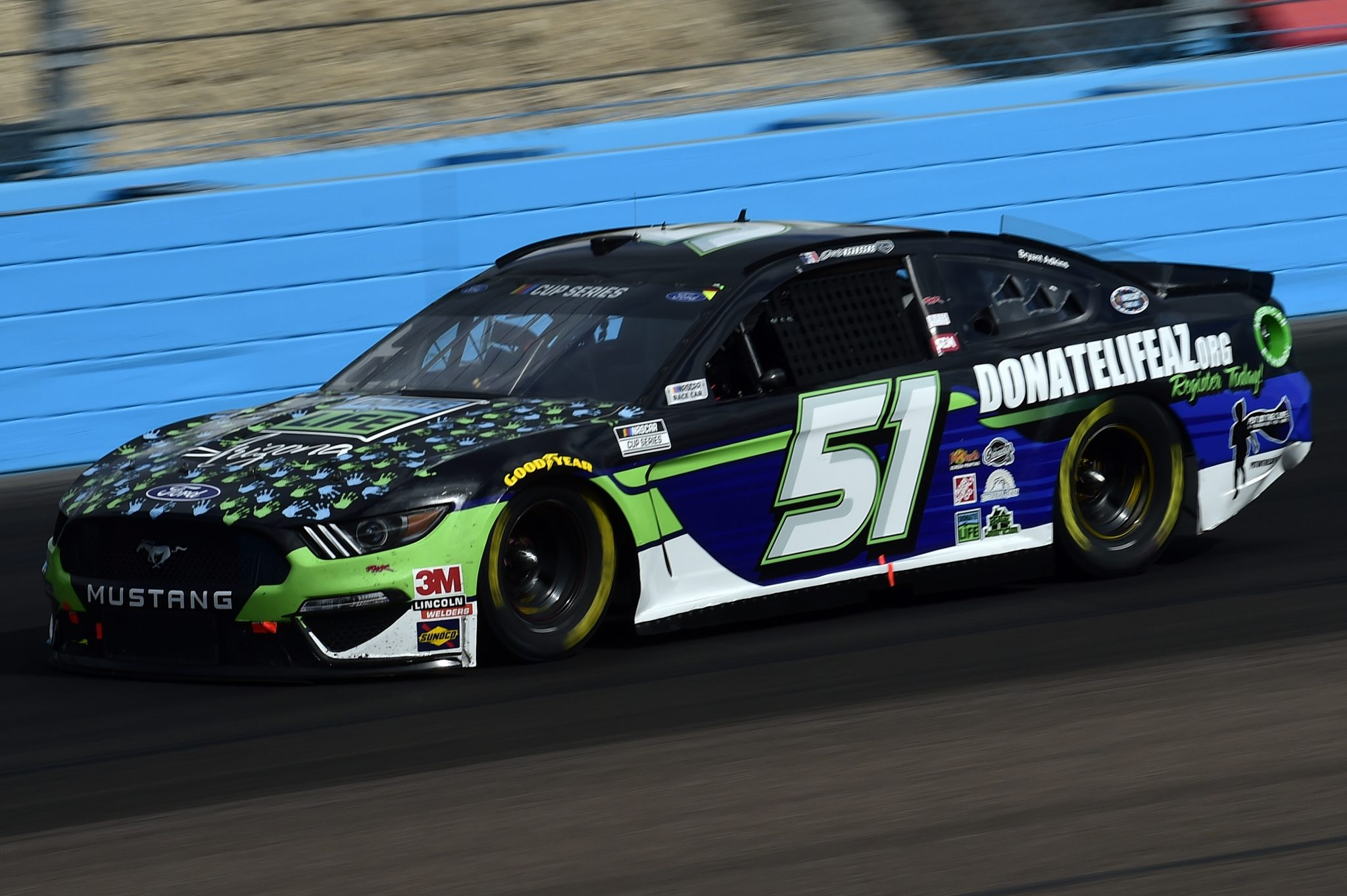 AVONDALE, ARIZONA - NOVEMBER 08: Joey Gase, driver of the #51 Ford, drives during the NASCAR Cup Series Season Finale 500 at Phoenix Raceway on November 08, 2020 in Avondale, Arizona. (Photo by Jared C. Tilton/Getty Images) | Getty Images