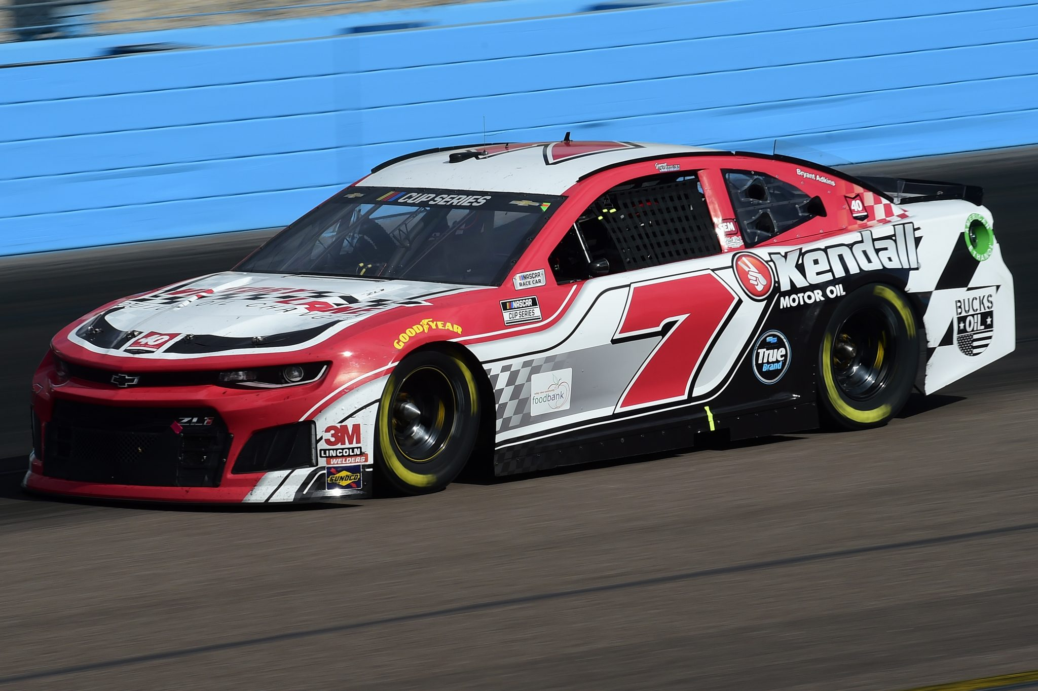 AVONDALE, ARIZONA - NOVEMBER 08: Garrett Smithley, driver of the #7 Victory Lane Oil Chevrolet, drives during the NASCAR Cup Series Season Finale 500 at Phoenix Raceway on November 08, 2020 in Avondale, Arizona. (Photo by Jared C. Tilton/Getty Images) | Getty Images
