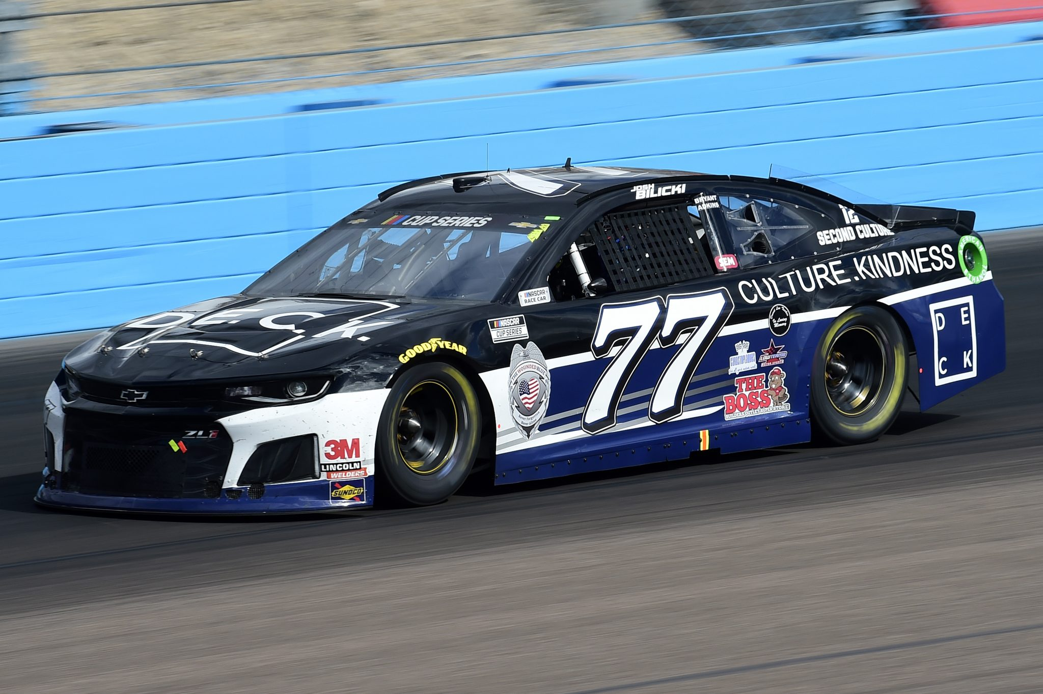 AVONDALE, ARIZONA - NOVEMBER 08: Josh Bilicki, driver of the #77 RacingForTheTruth.com Chevrolet, drives during the NASCAR Cup Series Season Finale 500 at Phoenix Raceway on November 08, 2020 in Avondale, Arizona. (Photo by Jared C. Tilton/Getty Images) | Getty Images