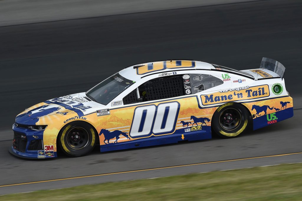LONG POND, PENNSYLVANIA - JUNE 27: Quin Houff, driver of the #00 Mane 'n Tail Chevrolet, drives during the NASCAR Cup Series Pocono Organics 325 in partnership with Rodale Institute at Pocono Raceway on June 27, 2020 in Long Pond, Pennsylvania. (Photo by Jared C. Tilton/Getty Images) | Getty Images
