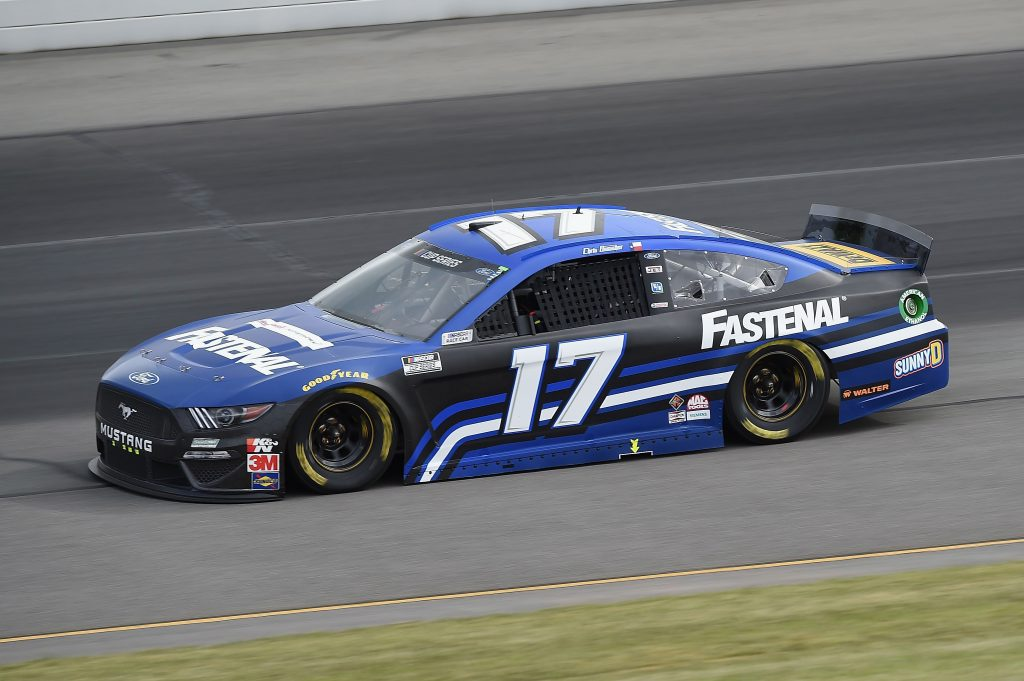 LONG POND, PENNSYLVANIA - JUNE 27: Chris Buescher, driver of the #17 Fastenal Ford, drives during the NASCAR Cup Series Pocono Organics 325 in partnership with Rodale Institute at Pocono Raceway on June 27, 2020 in Long Pond, Pennsylvania. (Photo by Jared C. Tilton/Getty Images) | Getty Images