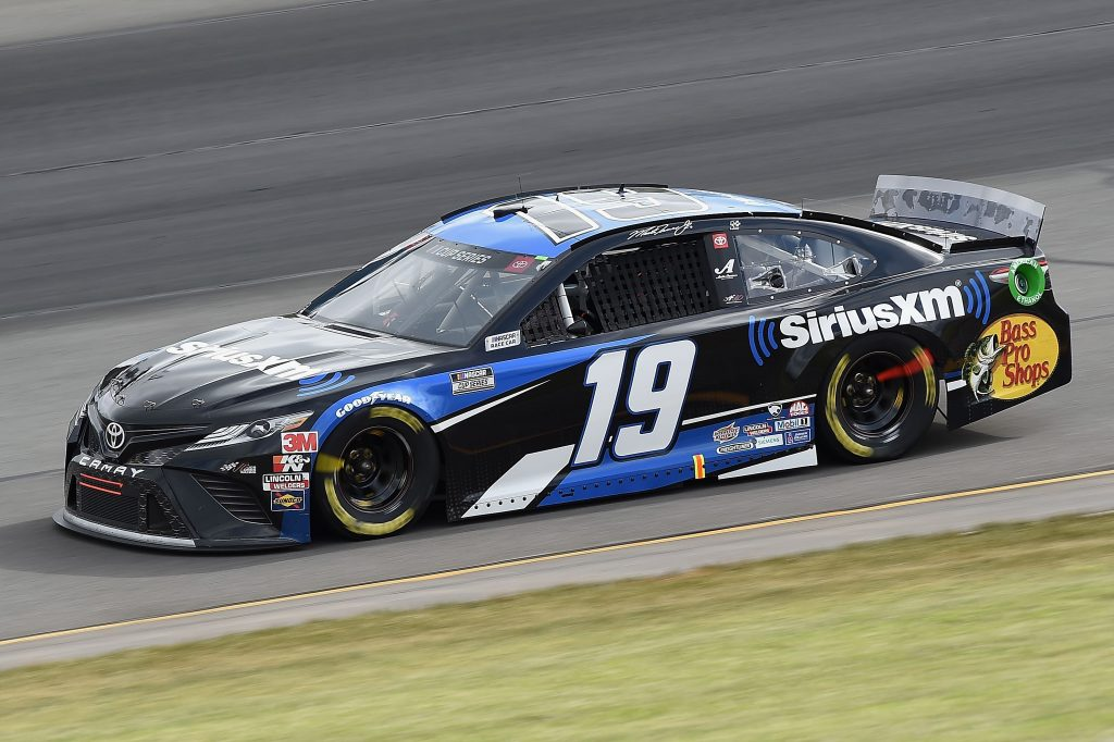 LONG POND, PENNSYLVANIA - JUNE 27: Martin Truex Jr., driver of the #19 Sirius XM Toyota, drives during the NASCAR Cup Series Pocono Organics 325 in partnership with Rodale Institute at Pocono Raceway on June 27, 2020 in Long Pond, Pennsylvania. (Photo by Jared C. Tilton/Getty Images)   Getty Images