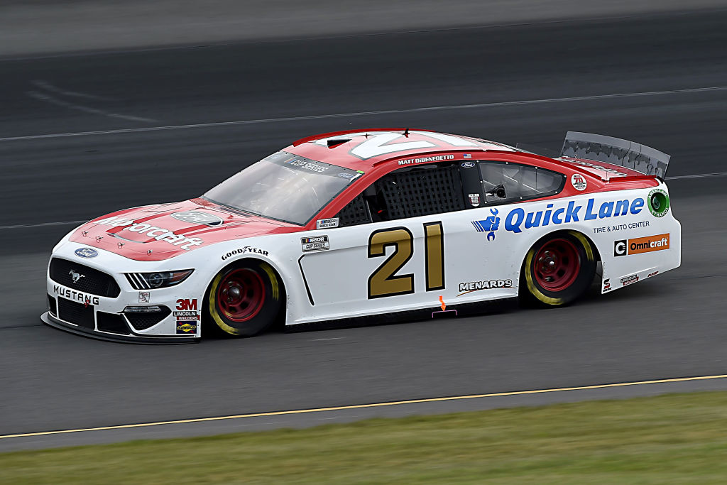LONG POND, PENNSYLVANIA - JUNE 27: Matt DiBenedetto, driver of the #21 Motorcraft/Quick Lane Ford, drives during the NASCAR Cup Series Pocono Organics 325 in partnership with Rodale Institute at Pocono Raceway on June 27, 2020 in Long Pond, Pennsylvania. (Photo by Jared C. Tilton/Getty Images) | Getty Images