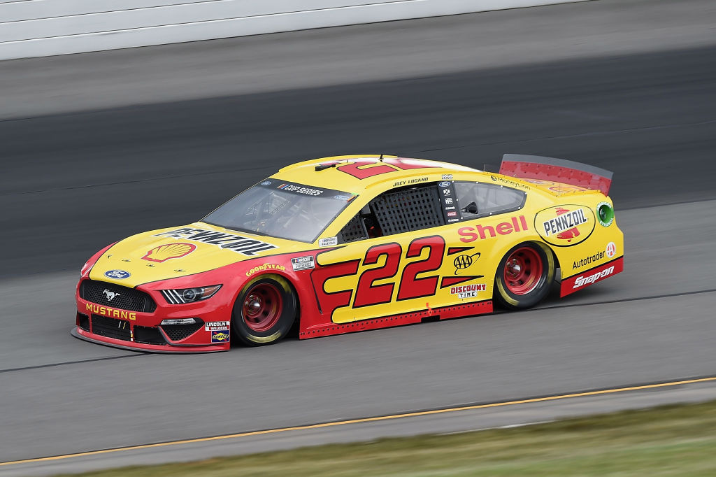 LONG POND, PENNSYLVANIA - JUNE 27: Joey Logano, driver of the #22 Shell Pennzoil Ford, drives during the NASCAR Cup Series Pocono Organics 325 in partnership with Rodale Institute at Pocono Raceway on June 27, 2020 in Long Pond, Pennsylvania. (Photo by Jared C. Tilton/Getty Images) | Getty Images