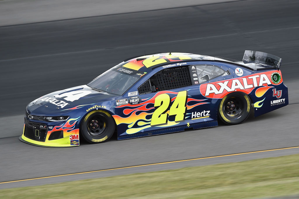 LONG POND, PENNSYLVANIA - JUNE 27: William Byron, driver of the #24 Axalta Chevrolet, drives during the NASCAR Cup Series Pocono Organics 325 in partnership with Rodale Institute at Pocono Raceway on June 27, 2020 in Long Pond, Pennsylvania. (Photo by Jared C. Tilton/Getty Images) | Getty Images