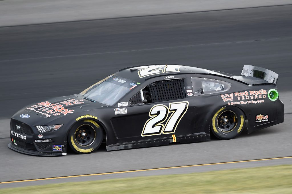 LONG POND, PENNSYLVANIA - JUNE 27: JJ Yeley, driver of the #27 Ford, drives during the NASCAR Cup Series Pocono Organics 325 in partnership with Rodale Institute at Pocono Raceway on June 27, 2020 in Long Pond, Pennsylvania. (Photo by Jared C. Tilton/Getty Images) | Getty Images