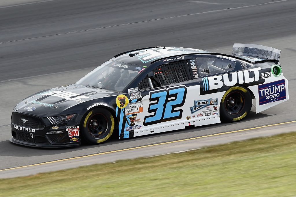 LONG POND, PENNSYLVANIA - JUNE 27: Corey LaJoie, driver of the #32 Built Bar Ford, drives during the NASCAR Cup Series Pocono Organics 325 in partnership with Rodale Institute at Pocono Raceway on June 27, 2020 in Long Pond, Pennsylvania. (Photo by Jared C. Tilton/Getty Images) | Getty Images