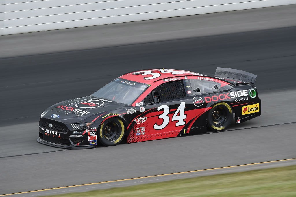 LONG POND, PENNSYLVANIA - JUNE 27: Michael McDowell, driver of the #34 Ford, drives during the NASCAR Cup Series Pocono Organics 325 in partnership with Rodale Institute at Pocono Raceway on June 27, 2020 in Long Pond, Pennsylvania. (Photo by Jared C. Tilton/Getty Images) | Getty Images