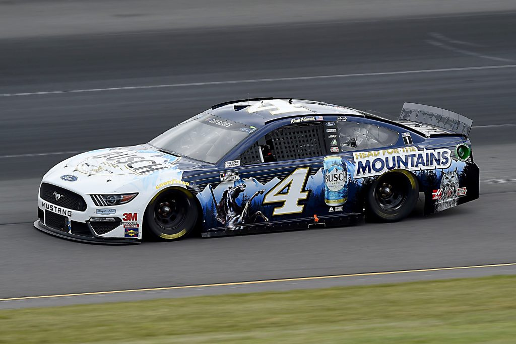 LONG POND, PENNSYLVANIA - JUNE 27: Kevin Harvick, driver of the #4 Busch Head for the Mountains Ford, drives during the NASCAR Cup Series Pocono Organics 325 in partnership with Rodale Institute at Pocono Raceway on June 27, 2020 in Long Pond, Pennsylvania. (Photo by Jared C. Tilton/Getty Images) | Getty Images
