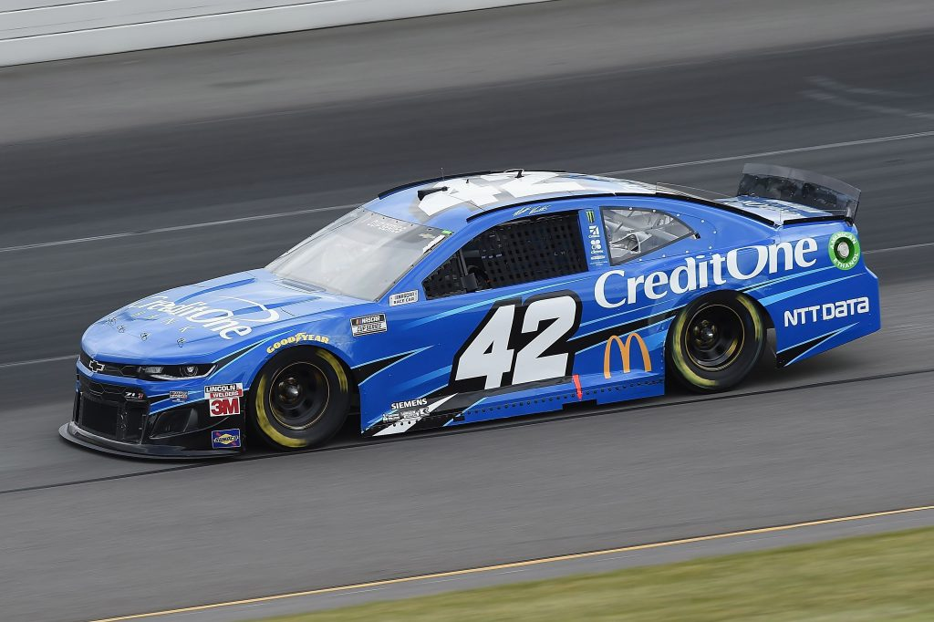 LONG POND, PENNSYLVANIA - JUNE 27: Matt Kenseth, driver of the #42 Credit One Bank Chevrolet, drives during the NASCAR Cup Series Pocono Organics 325 in partnership with Rodale Institute at Pocono Raceway on June 27, 2020 in Long Pond, Pennsylvania. (Photo by Jared C. Tilton/Getty Images) | Getty Images