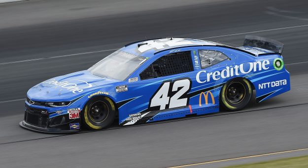 LONG POND, PENNSYLVANIA - JUNE 27: Matt Kenseth, driver of the #42 Credit One Bank Chevrolet, drives during the NASCAR Cup Series Pocono Organics 325 in partnership with Rodale Institute at Pocono Raceway on June 27, 2020 in Long Pond, Pennsylvania. (Photo by Jared C. Tilton/Getty Images)   Getty Images