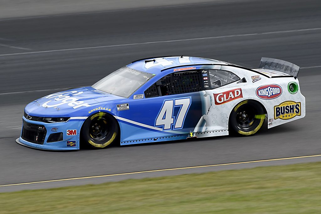 LONG POND, PENNSYLVANIA - JUNE 27: Ricky Stenhouse Jr., driver of the #47 Kroger Chevrolet, drives during the NASCAR Cup Series Pocono Organics 325 in partnership with Rodale Institute at Pocono Raceway on June 27, 2020 in Long Pond, Pennsylvania. (Photo by Jared C. Tilton/Getty Images) | Getty Images