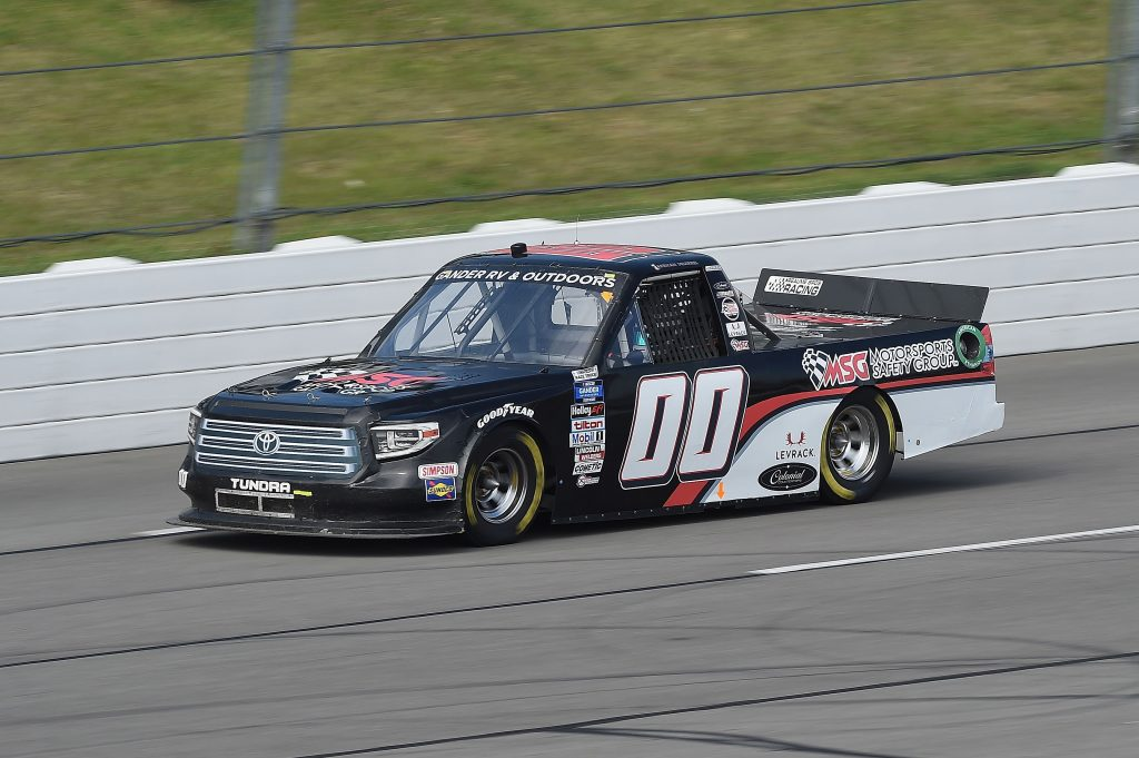 LONG POND, PENNSYLVANIA - JUNE 28: Josh Reaume, driver of the #00 Toyota, drives during the NASCAR Gander RV & Outdoors Truck Series Pocono Organics 150 to benefit Farm Aid at Pocono Raceway on June 28, 2020 in Long Pond, Pennsylvania. (Photo by Jared C. Tilton/Getty Images) | Getty Images