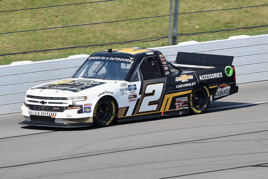LONG POND, PENNSYLVANIA - JUNE 28: Sheldon Creed, driver of the #2 Chevy Accessories Chevrolet, drives during the NASCAR Gander RV & Outdoors Truck Series Pocono Organics 150 to benefit Farm Aid at Pocono Raceway on June 28, 2020 in Long Pond, Pennsylvania. (Photo by Jared C. Tilton/Getty Images) | Getty Images