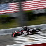LONG POND, PENNSYLVANIA - JUNE 28: Brandon Jones, driver of the #51 DuPont Air Filtration/Menards Toyota, drives during the NASCAR Gander RV & Outdoors Truck Series Pocono Organics 150 to benefit Farm Aid at Pocono Raceway on June 28, 2020 in Long Pond, Pennsylvania. (Photo by Jared C. Tilton/Getty Images)   Getty Images