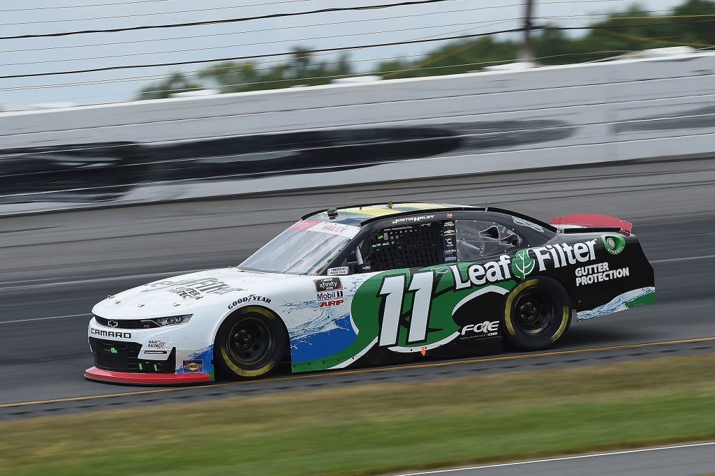 LONG POND, PENNSYLVANIA - JUNE 28: Justin Haley, driver of the #11 LeafFilter Gutter Protection Chevrolet, drives during the NASCAR Xfinity Series Pocono Green 225 Recycled by J.P. Mascaro & Sons at Pocono Raceway on June 28, 2020 in Long Pond, Pennsylvania. (Photo by Jared C. Tilton/Getty Images) | Getty Images