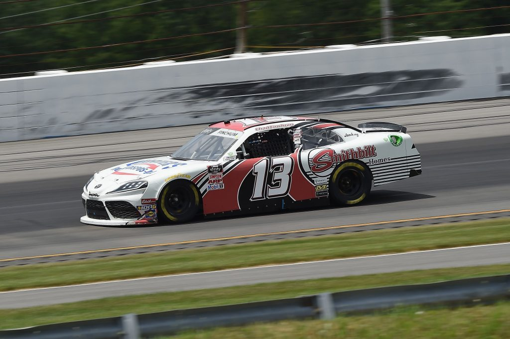 LONG POND, PENNSYLVANIA - JUNE 28: Chad Finchum, driver of the #13 SMITHBILT HOMES Toyota, drives during the NASCAR Xfinity Series Pocono Green 225 Recycled by J.P. Mascaro & Sons at Pocono Raceway on June 28, 2020 in Long Pond, Pennsylvania. (Photo by Jared C. Tilton/Getty Images) | Getty Images