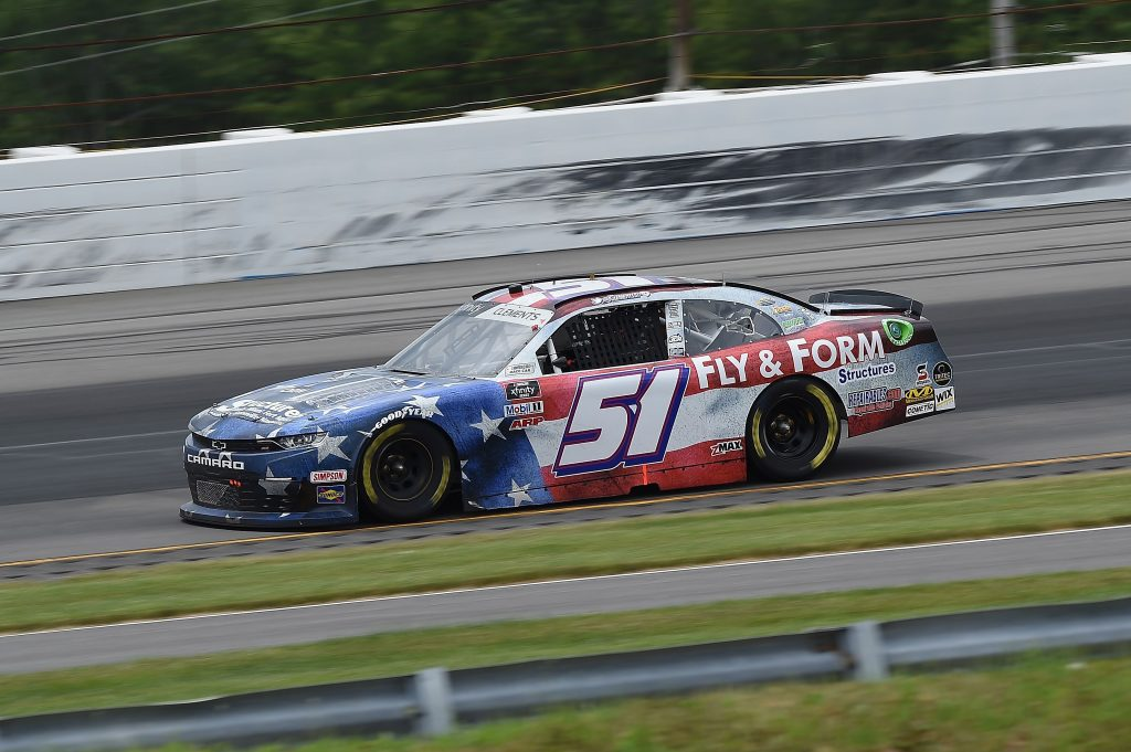 LONG POND, PENNSYLVANIA - JUNE 28: Jeremy Clements, driver of the #51 Repairables.com Chevrolet, drives during the NASCAR Xfinity Series Pocono Green 225 Recycled by J.P. Mascaro & Sons at Pocono Raceway on June 28, 2020 in Long Pond, Pennsylvania. (Photo by Jared C. Tilton/Getty Images) | Getty Images