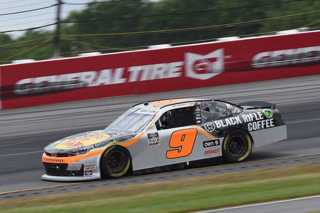LONG POND, PENNSYLVANIA - JUNE 28: Noah Gragson, driver of the #9 Bass Pro Shops/BRCC Chevrolet, drives during the NASCAR Xfinity Series Pocono Green 225 Recycled by J.P. Mascaro & Sons at Pocono Raceway on June 28, 2020 in Long Pond, Pennsylvania. (Photo by Jared C. Tilton/Getty Images) | Getty Images