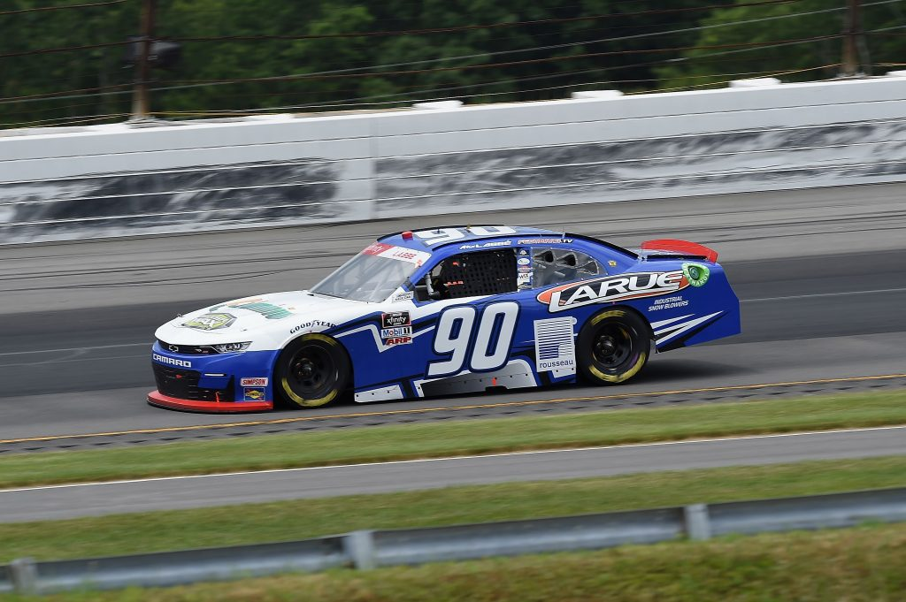 LONG POND, PENNSYLVANIA - JUNE 28: Alex Labbe, driver of the #90 Laure Snowplowers/rousseau Chevrolet, drives during the NASCAR Xfinity Series Pocono Green 225 Recycled by J.P. Mascaro & Sons at Pocono Raceway on June 28, 2020 in Long Pond, Pennsylvania. (Photo by Jared C. Tilton/Getty Images) | Getty Images