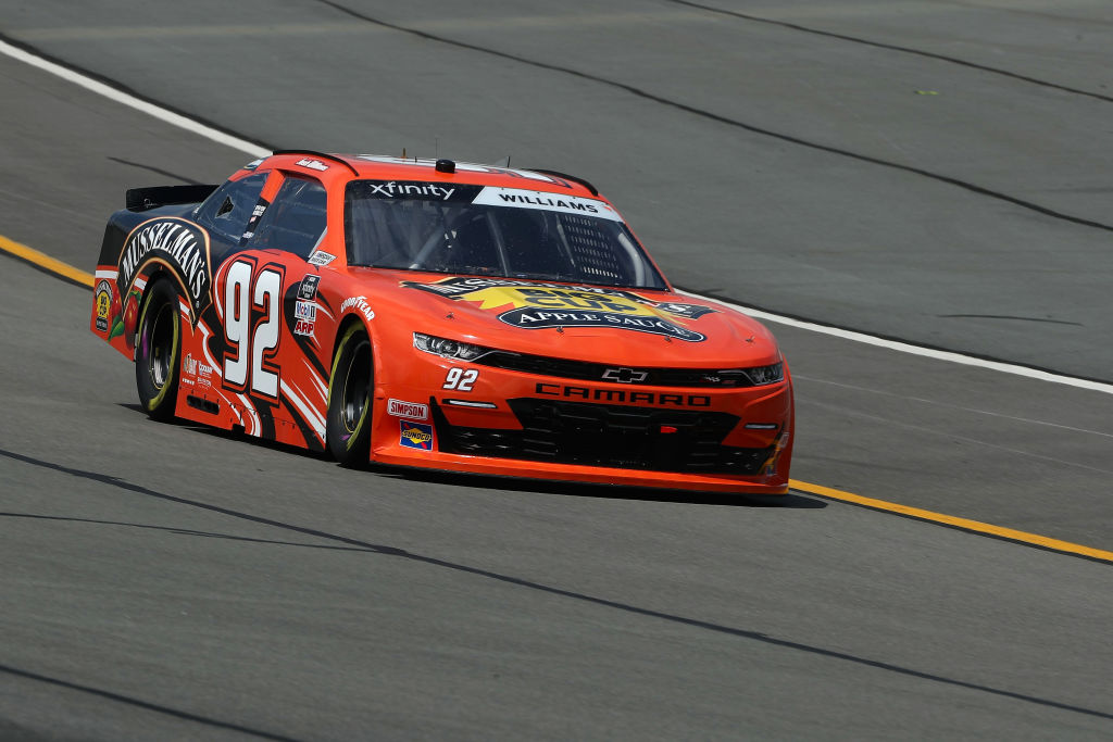 LONG POND, PENNSYLVANIA - JUNE 28: Josh Williams, driver of the #92 General Formulations Chevrolet, on track prior to the NASCAR Xfinity Series Pocono Green 225 Recycled by J.P. Mascaro & Sons at Pocono Raceway on June 28, 2020 in Long Pond, Pennsylvania. (Photo by Patrick Smith/Getty Images) | Getty Images