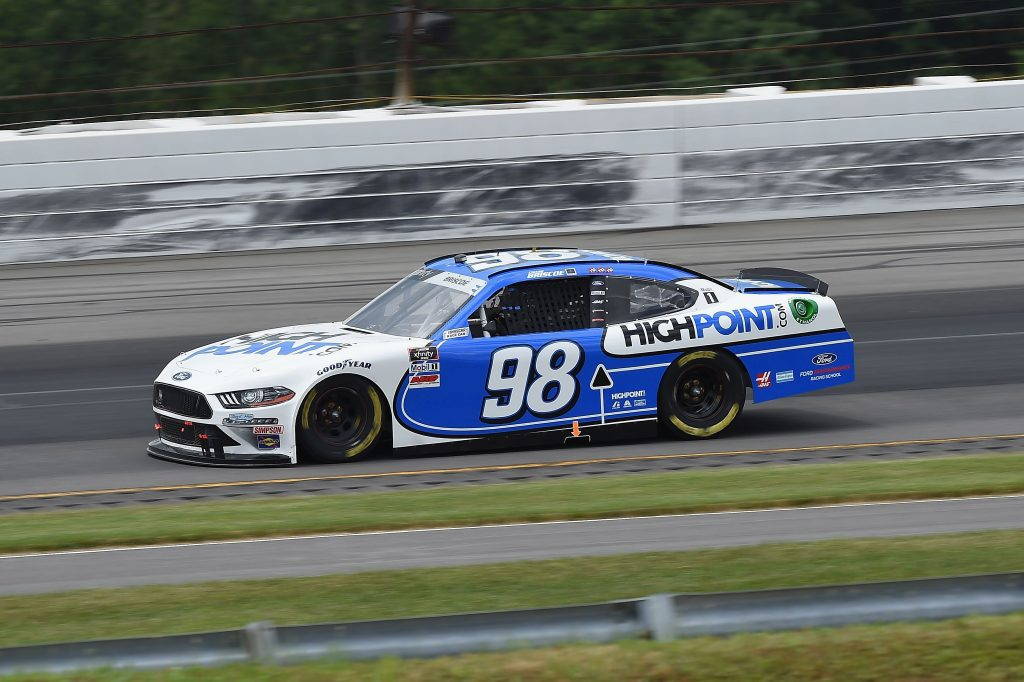 LONG POND, PENNSYLVANIA - JUNE 28: Chase Briscoe, driver of the #98 Highpoint.com Ford, drives during the NASCAR Xfinity Series Pocono Green 225 Recycled by J.P. Mascaro & Sons at Pocono Raceway on June 28, 2020 in Long Pond, Pennsylvania. (Photo by Jared C. Tilton/Getty Images) | Getty Images